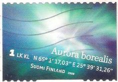 Aurora Boreal Finland, Stamp Collecting, Postage Stamps, Collection, Northern Lights, Cloud, Seals, Landscape, Places