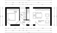 Small House Layout, Tiny House Design, House Layouts, Studio Apartment Floor Plans, Sweden House, Lofts, Minimal Living, Modern Cottage, Modular Homes