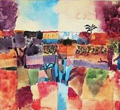 Hammamet, Germany, 1912, by Paul Klee.