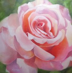 A Single Rose, painting by artist Carol Keene