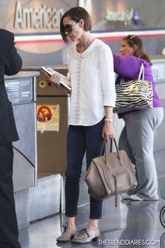 Embeth Davidtz at LAX Airport in Los Angeles, California - September 28, 2012