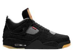 8b25afe5 Nike Air Jordan X Levi's Retro 4 Black Denim AO2571-001 2018 Adult and GS