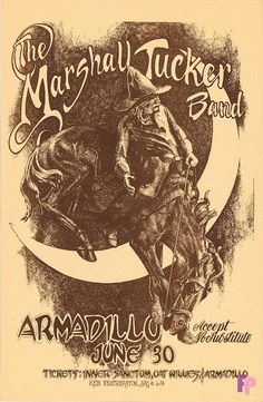 Marshall Tucker Band, Armadillo World Headquarters, Austin.