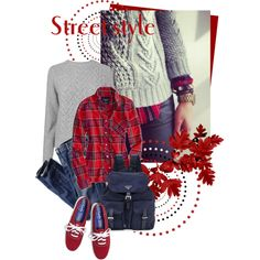 tartan shirt by sagramora on Polyvore flannel plaid UNDER sweater