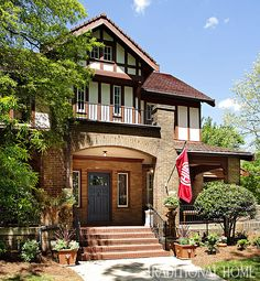 This stately 1912 Tudor Revival home was the site of the Junior League of High Point Showhouse. - Photo: Peter Rymwid
