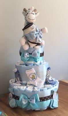 Baby shower Diaper cake for boy