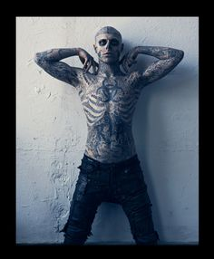 cb3244528e557 The beauty isn't in the tattoos, but in the person who is brave enough to  wear art that touches his spirit, on his skin. Model Rick Genest aka Zombie  Boy ...
