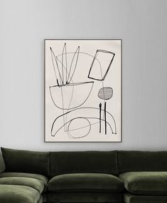 "Large Abstract, Minimalistic Painting, Printable Art, Large Art Prints, 30""x40"" Black White art, white tones, hand Drawn, Oversized wall art by DanHobdayArt on Etsy"
