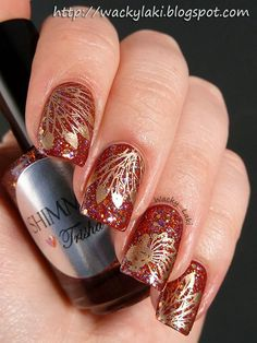 """Winstonia plate W119 in Maybelline """"Bold Gold"""""""