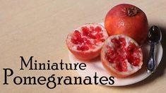 How about a pomegranate? :) More fruit!! yeay! haha - I hope you like it! It has been requested a few times to make pomegranates, - fruit in general is usual...