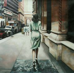 "Saatchi Online Artist thomas saliot; Painting, ""Walking Kubrick"" #art"
