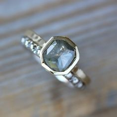 Rose Cut Fancy Gray  Diamond Recycled 14k Gold by onegarnetgirl, $1398.00