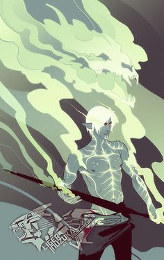 the-liger-art:  The Lyrium Ghost by Liger-Inuzuka   exorealistic said Fenris, #3 perhaps?  Extremely successful color palette exercise featu...