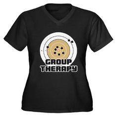 Group Therapy - Guns Womens V-Neck Dark #gungirltv #gungirl #nashvillesouthgirlsgunclub