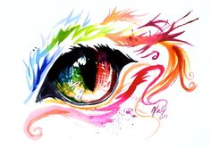 Rainbow Cat Eye by Lucky978.deviantart.com on @deviantART