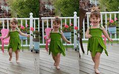 tinkerbell romper diy tinkerbell costume, see more at http://diyready.com/diy-tinkerbell-costume-ideas