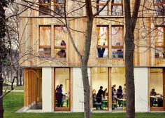 Belus & Hénocq completes timber dormitory for Parisian school