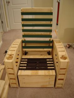 DIY home theater chairs. I don't know if I will ever want to make my own chairs the the directions are great.