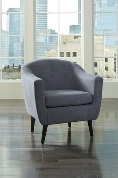 SKU 36207-21 contemporary upholstered, contour arm chair.