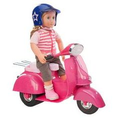 Ride in Style Scooter (Fuchsia & Navy Blue) - Our Generation™ : Target