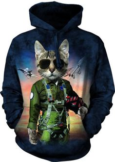 Winged Funny Tiger Mens Hoodie Sweatshirt Stylish Polyester Pullover with Pockets Outdoor