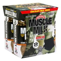CytoSport Muscle Milk Ready-to-Drink Shake, Chocolate, 11 Ounce Boxes in 4-Count Packages (Pack of 6) by Cytosport. $41.88