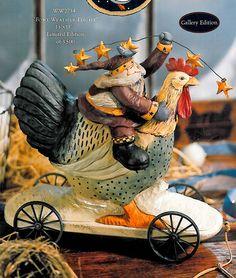 American Williraye figurine. Happy Holidays, Christmas Holidays, Russian Santa, Father Christmas, Clay Ideas, Little People, Old World, Folk Art, Polymer Clay