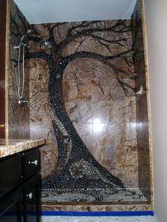 Raintree in the shower