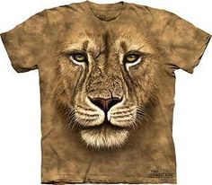 Lion Warrior Adult T-Shirt by The Mountain - 10-3180 #TheMountainCorporation