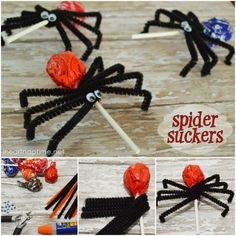 Kids will love  these fantastic Lollipops Spider Suckers -- great Halloween treats .  Check out--> http://wonderfuldiy.com/wonderful-diy-halloween-lollipops-spider-suckers/