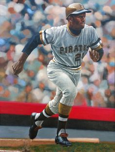 On March eleven weeks after he was killed on a mercy mission, Roberto Clemente was voted into baseball's Hall of Fame in an extraordinary special election. Mlb Players, Baseball Players, Baseball Cards, Roberto Clemente, Pittsburgh Sports, Pittsburgh Pirates, Puerto Rico, Baseball Painting, Pnc Park