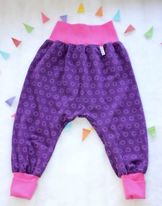 Pantalones Harem - Pantalón bombacho 104/ 110 BIO STARS - hecho a mano por ThreeLittleBirdies en DaWanda