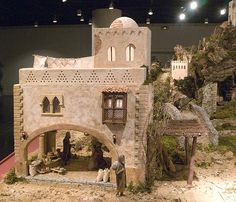 Belen Sala Luzan. CAI. Asociacion de Amigos del Belen | Flickr - Photo Sharing! Disney Christmas Village, Christmas Crib Ideas, Christmas Nativity Scene, Christmas Villages, A Christmas Story, Nativity Scenes, Nativity House, Diy Nativity, Fairy Houses