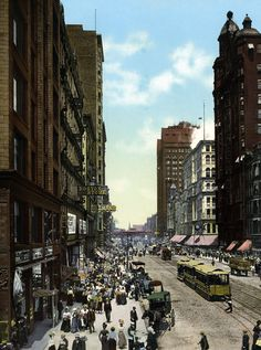 Looking north on State Street from Madison, 1898, Chicago. ❣Julianne McPeters❣ no pin limits