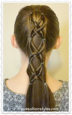 Criss Cross Woven Ponytail Hairstyle, quick and easy tutorial.