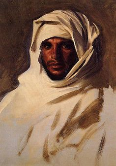 2015 TOP ART oil painting- A Bedouin Arab Portrait with white scarf  oil painting -100% hand painted 24x36 inch-free shipping