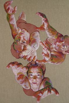 Cristina Troufa - Contemporary Artist - Figurative Painting - So Close - 2015 Art And Illustration, Ap Studio Art, Figure Painting, Figure Drawing, Portfolio D'art, Art Inspo, Studios D'art, L'art Du Portrait, Portraits