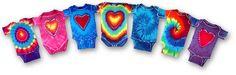 hippie cute. make tie dye onesies instead of shower games!
