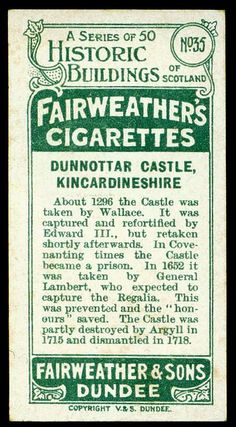 Cigarette Card Back - Fairweather's of Dundee by cigcardpix, via Flickr