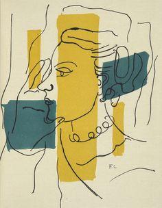 FERNAND LÉGER -- ANDRÉ FRÉNAUD SOURCE ENTIÈRE. AVEC CINQ LITHOGRAPHIES ORIGINALES EN COULEURS DE FERNAND LÉGER. PARIS, SEGHERS, 1952.