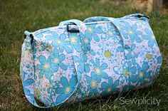 Quilted Duffle Bag Sewing Tutorial