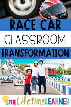 Check out this fun race car classroom transformation theme for elementary students in first, second, third, fourth, fifth grade. This racing room transformation will set the stage to engage and is stress-free! It's a worksheet or escape room alternative, and can be used in small groups or partners. 1st, 2nd, 3rd, 4th, 5th graders enjoy classroom transformation ideas. Digital and printables for kids (Year 1,2,3,4,5) #setthestagetoengage #classroomtransformation #mathactivities