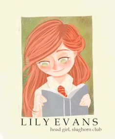 Hogwarts Yearbook | Lily Evans and James Potter.gif