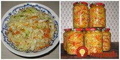 Tento šalátik je fantastický - zatiaľ najlepšia zálievka, akú som skúsila. Navyše, môžete ho mať vždy poruke - k mäsku a na grilovačku je perfektný!  Potrebujeme:  1300 g hlávkovej kapusty    500 g červenej papriky    250 g mrkvy    250 g cibule    feferónky Top Recipes, Baked Potato, Zucchini, Grains, Food And Drink, Potatoes, Baking, Vegetables, Ethnic Recipes
