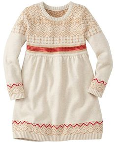 Classic Nordic patterning and sweatercraft zooms forward into our modern slipover dress that plays, parties and washes happily ever after in real life.  <br>•100% combed cotton yarns <br>•Sweaterknit in Scandi Fair Isle pattern <br>•Empire waist with gathered skirt <br>•Certified by Oeko-Tex® Standard 100 <br>•Machine wash <br>•Imported