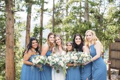 Dusty blue bridesmaids dresses for an Orlando wedding day | Passio Photography
