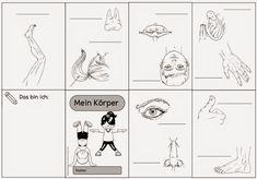 """Umgearbeitete Materialien für DAZ   Wie gewünscht habe ich die letzten Englischmaterialien (Falthefte """"Mein Körper"""" und """"In der Schule"""", La..."""