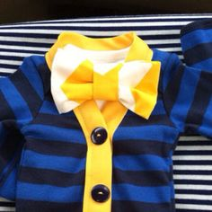 Baby Bowtie and Cardigan Onesie, Boy's First Birthday outfit, Baby Boy's Wedding Outfit, Baby's First Easter outfit