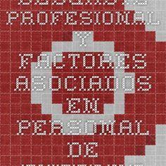 Desgaste profesional y factores asociados en personal de enfermería de servicios de urgencias de Cartagena, Colombia