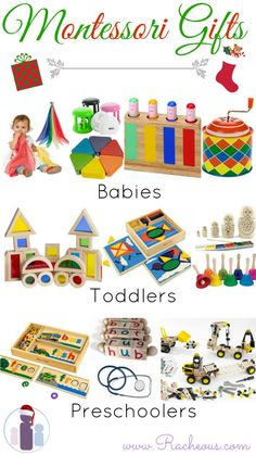 Montessori Gifts for Babies Toddlers & Preschoolers! These are all educational toys that we own and love! Montessori Gifts for Babies Toddlers & Preschoolers! These are all educational toys that we own and love! Montessori Toddler, Toddler Play, Montessori Activities, Baby Play, Infant Activities, Toddler Preschool, Baby Toys, Kids Toys, Activities For Kids